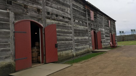 The Fur Store at Fort Vancouver.