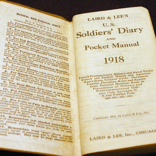 Laird & Lee Soldiers' Diary from 1918 from the Fort Vancouver museum collection