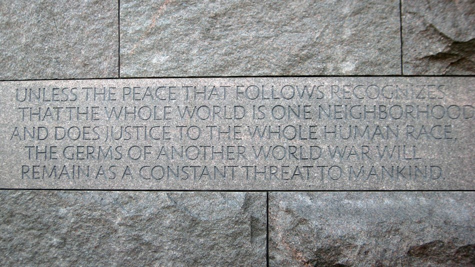 FDR Quote from within memorial