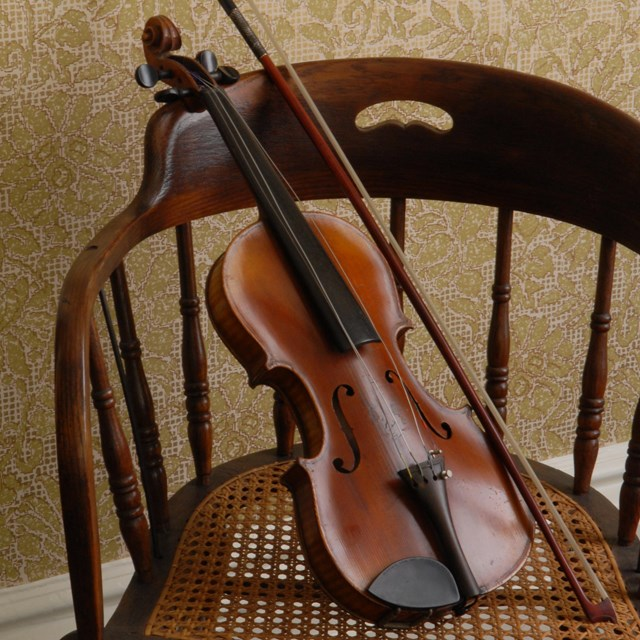 A violin on a chair