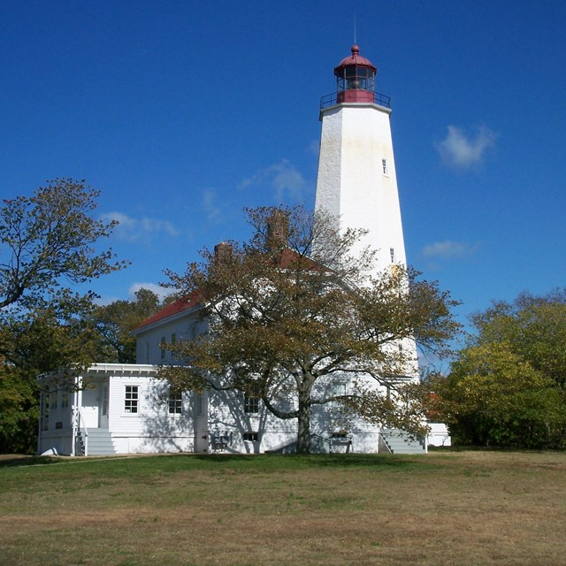 Photo of the Sandy Hook Lighthouse