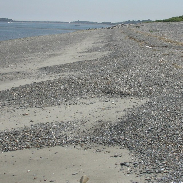 sand and  cobble beach