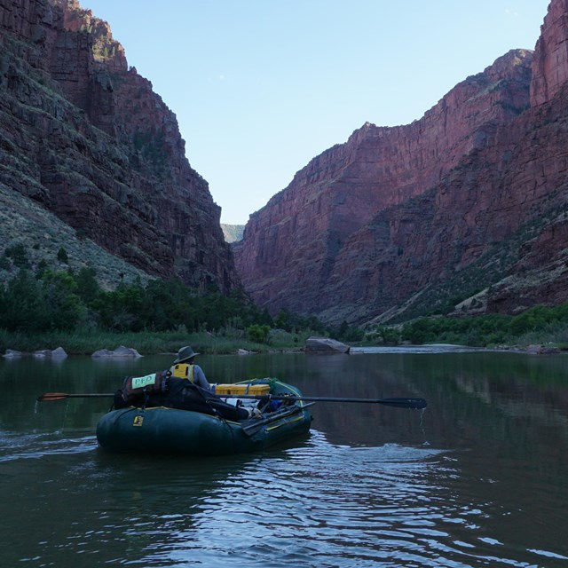 raft in canyon