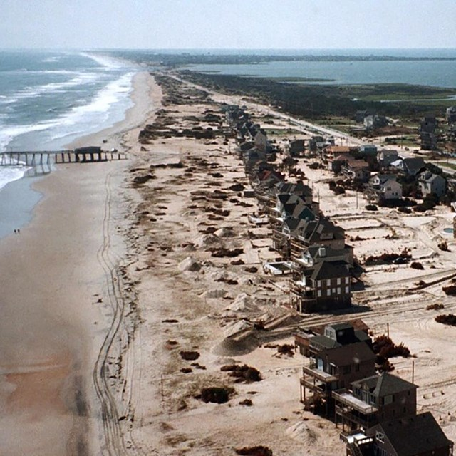 Damaged Homes on Cape Hatteras