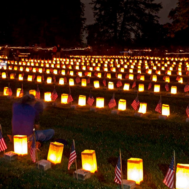 The annual Remembrance Day Illumination in the Soldiers' National Cemetery.