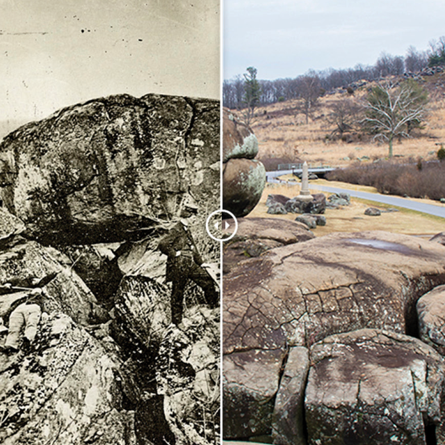 These Then & Now pictures compare the battlefield from over 150 years ago with present day pictures.