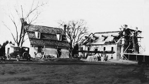 Construction of the Colonial Kitchen and the Memorial House Museum