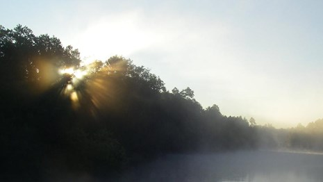 Sunrise on the Namekagon River, St. Croix National Scenic Riverway.