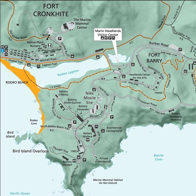 map of fort cronkhite