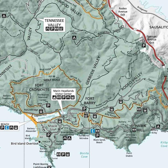 Map of Marin Headlands