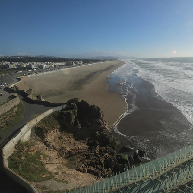 View of Ocean Beach from our web cam.