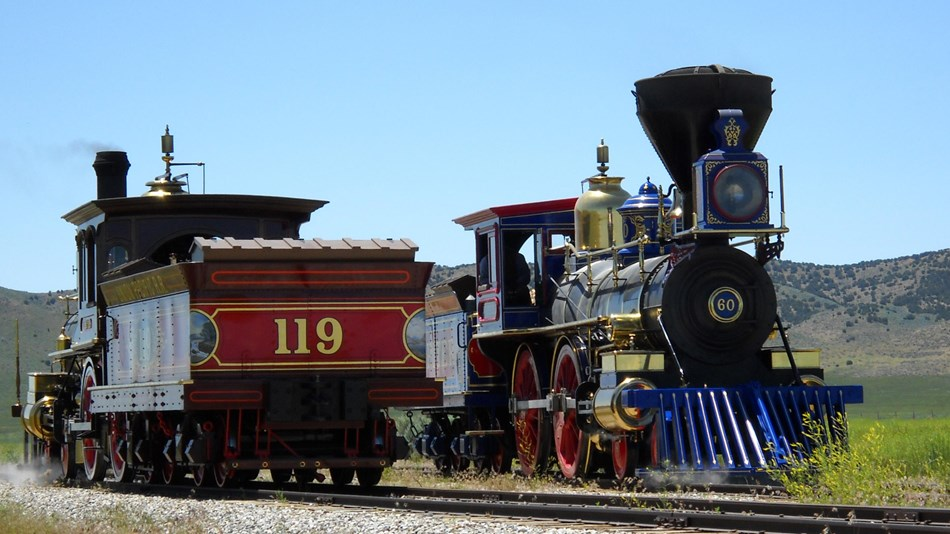 Golden Spike National Historic Site's replica locomotives help commemorate the linking of a nation.