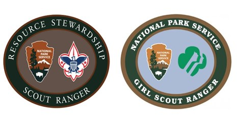 Images of the resource stewardship Scout patches