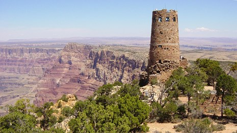 Mary Colter S Desert View Watchtower Grand Canyon National Park