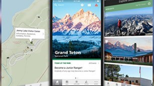Images from Grand Teton National Park's app