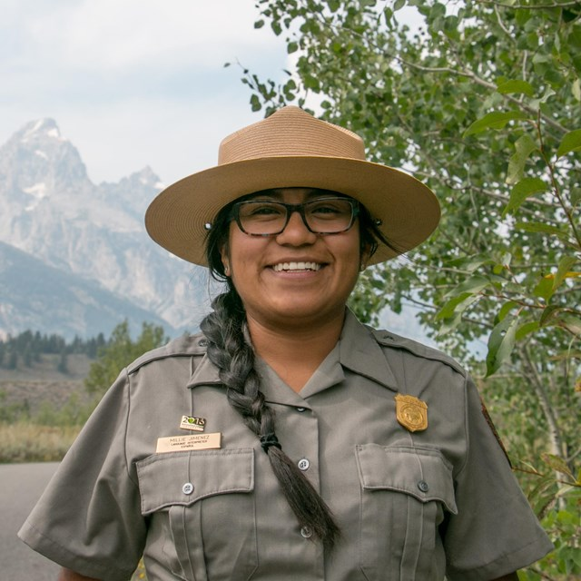 A park ranger in Grand Teton National Park