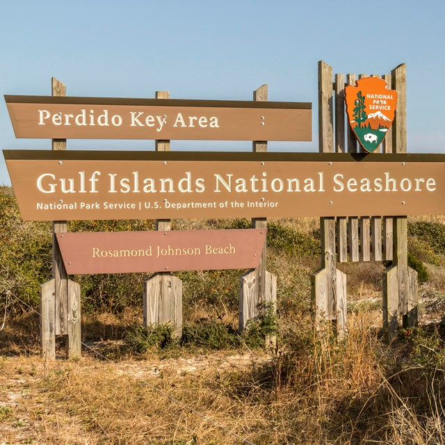 Entrance Sign for the Perdido Key Area