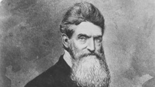 black and white image of John Brown