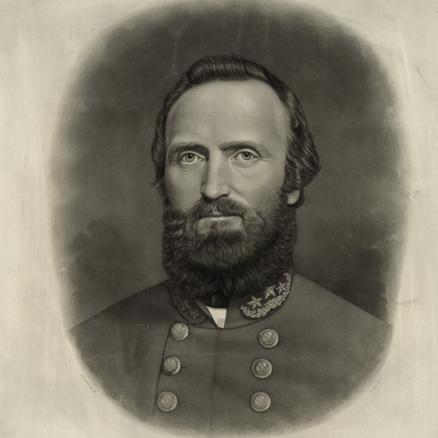 head and shoulders image of Stonewall Jackson, facing forward