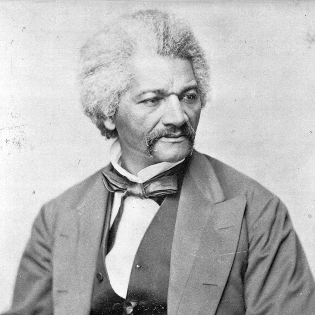 image of Frederick Douglass, head-and-shoulders portrait, facing right