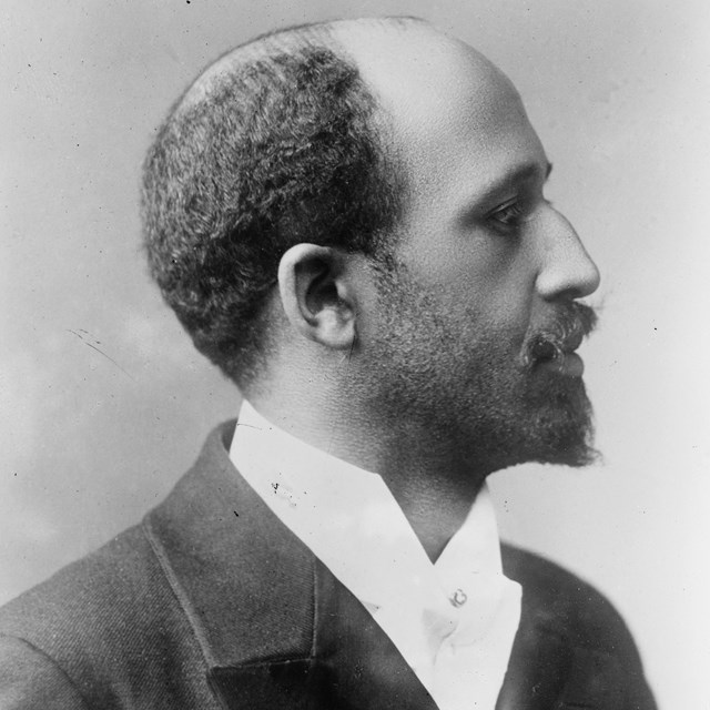 image of W. E. B. Du Bois, head and shoulders, facing right