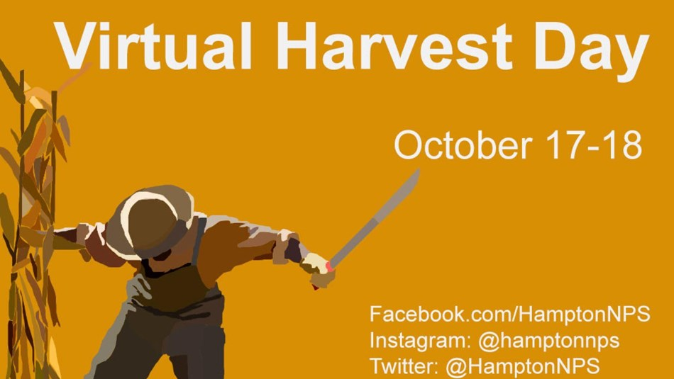 A graphic of a man harvesting corn with the dates of October 17-18.