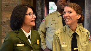 Park officials meet with public inside visitor center
