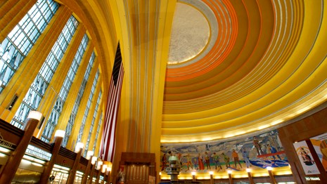 Art deco interior of the Cincinnati Union Terminal