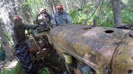 Ken Deardorff, the nation's last homesteader's, tractor has been saved from the wild's of Alaska.