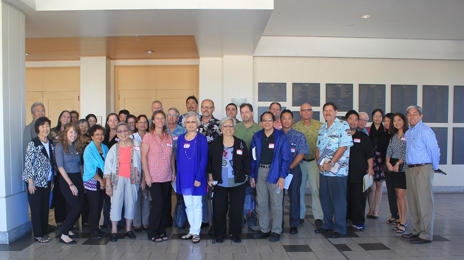 Group photo of Honouliuli stakeholders and NPS staff