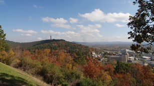 A view of the fall colors in Hot Springs from an overlook on West Mountain.