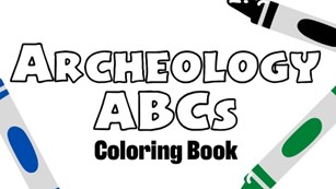 Front cover of a coloring book with 3 crayons, the text