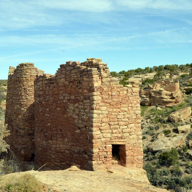 Twin Towers, an ansectral Puebloan stone structure