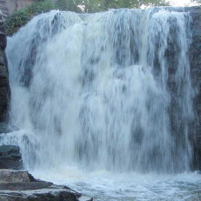 Photo of waterfall at Pipestone National Monument