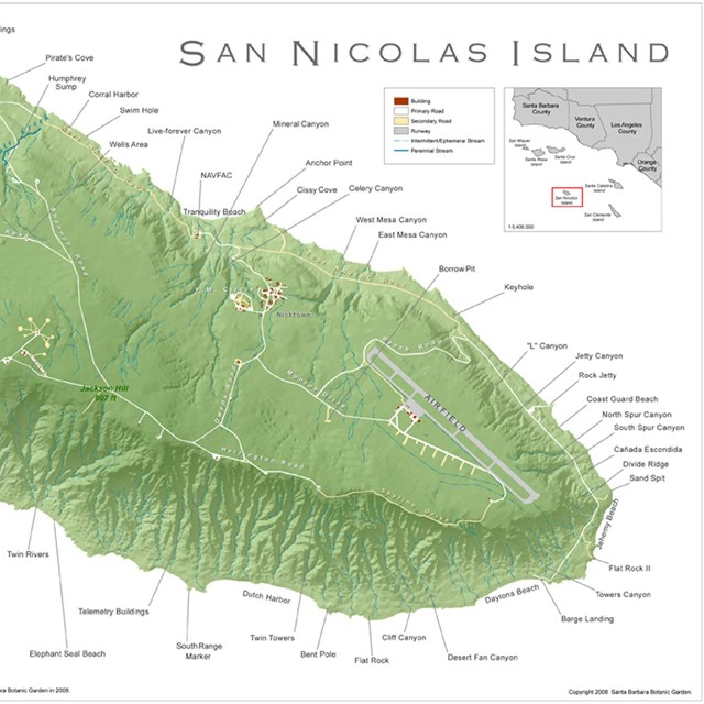 Image of San Nicolas Island map