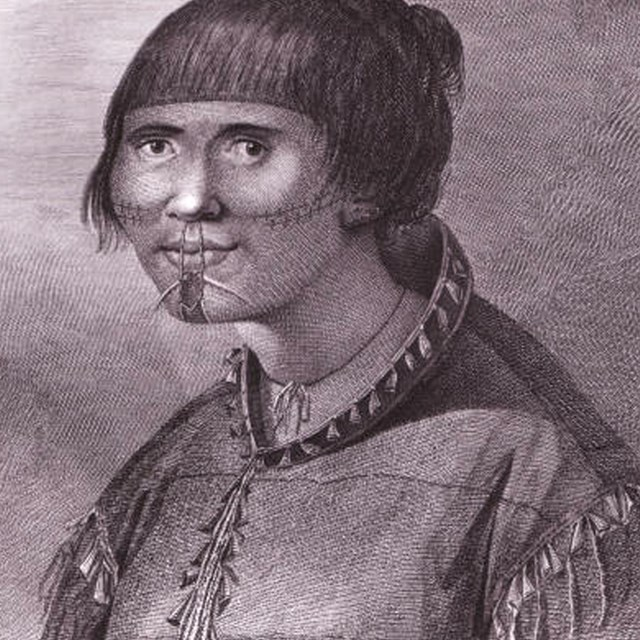 A woman of Oonalaska (Unalaska), between 1741 and 1767
