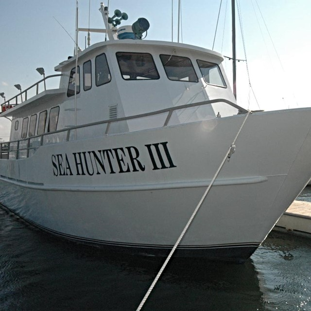 SEA HUNTER III docked.