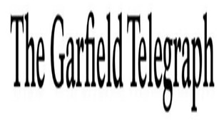 words say The Garfield Telegraph