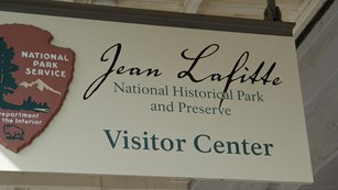 Sign for Jean Lafitte National Historical Park and Preserve