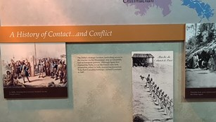 Exhibit about Louisiana Indians at French Quarter Visitor Center