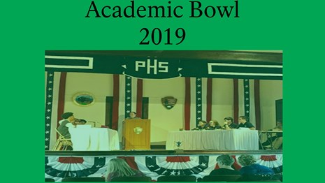 A link to the 2019 Academic Bowl welcome letter, rules, and registration form.