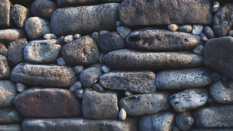 Picture of a drystack rock wall