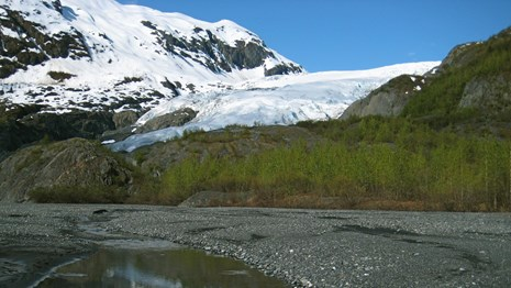 Exit Glacier and outwash plain.