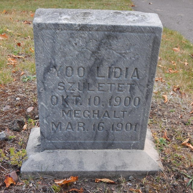 A grave marker.
