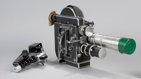 Museum collection image of a Bolex video camera