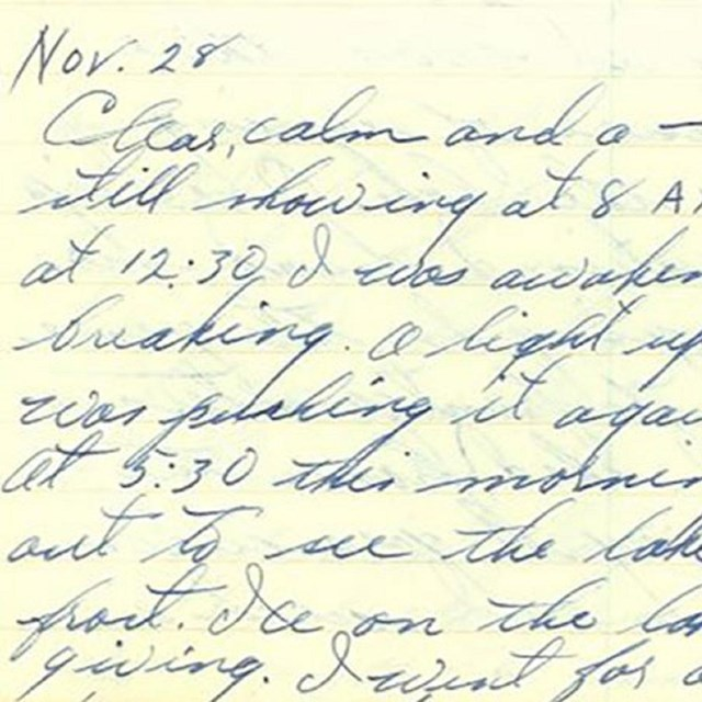 a handwritten page of cursive writing