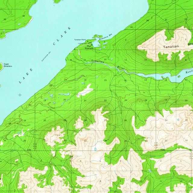 Port Alsworth Alaska Map.Maps Lake Clark National Park Preserve U S National Park Service