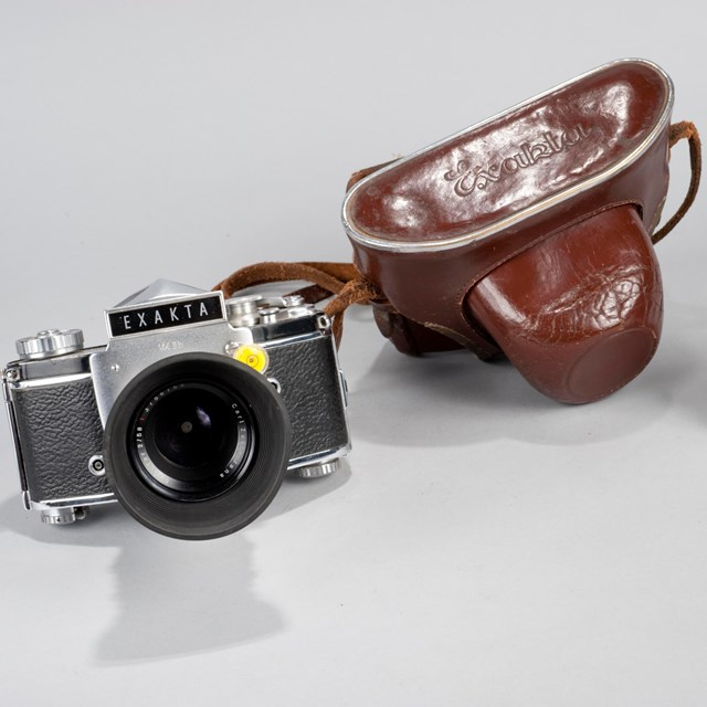 A Exakta camera and leather case