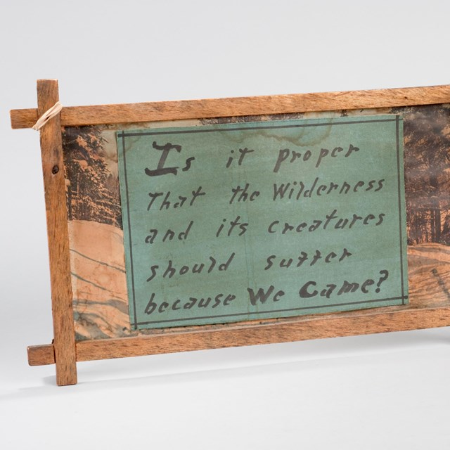a handmade sign that says