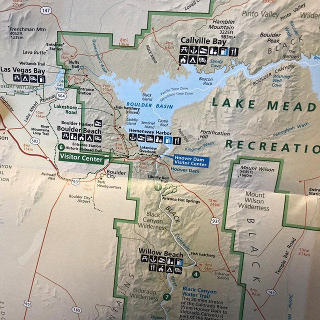 Map of Lake Mead.